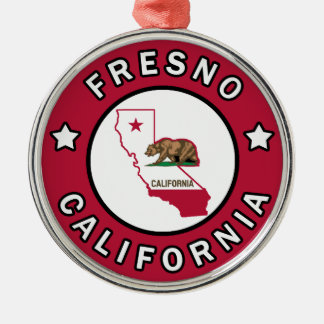 Fresno California Metal Ornament