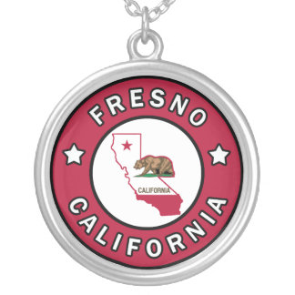 Fresno California Silver Plated Necklace