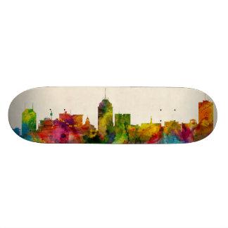 Fresno California Skyline Skateboard Deck