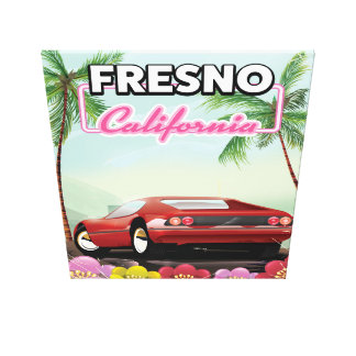Fresno California travel poster Canvas Print