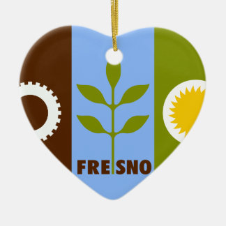 Fresno, California, United States Ceramic Ornament