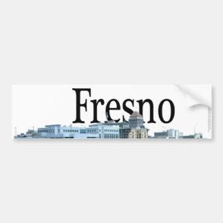 Fresno California with Fresno in the Sky Bumper Sticker