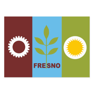 Fresno city flag large business cards (Pack of 100)