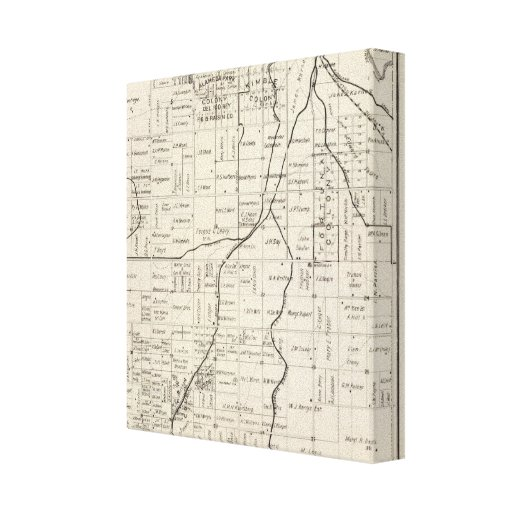 Fresno County, California 12 Stretched Canvas Prints