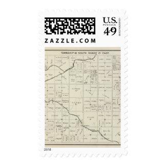 Fresno County, California 12 Postage Stamp