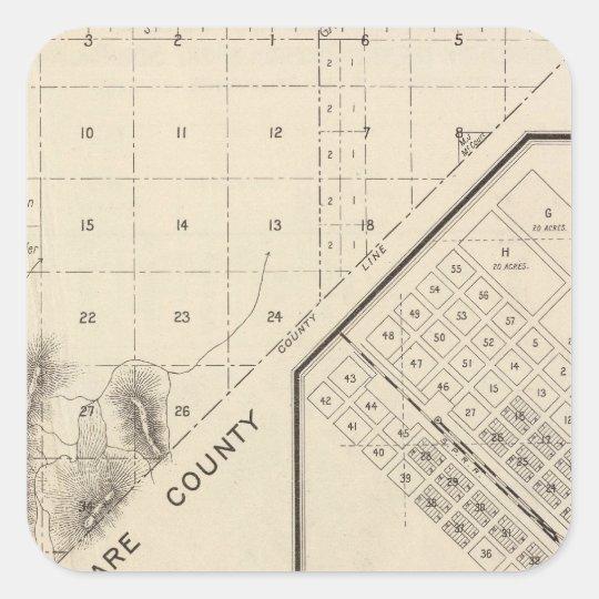 Fresno County, California 15 Square Sticker