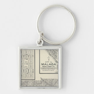 Fresno County, California 22 Silver-Colored Square Keychain