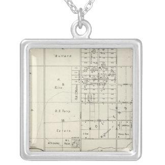 Fresno County, California 24 Square Pendant Necklace