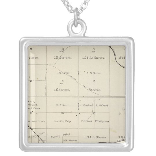 Fresno County, California 33 Silver Plated Necklace