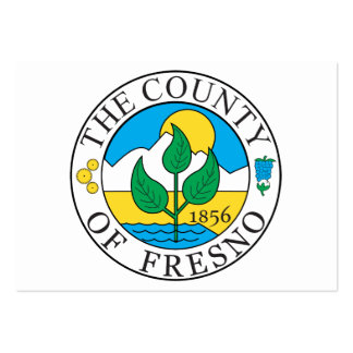 Fresno county seal large business cards (Pack of 100)