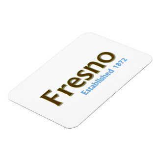 "Fresno Established 3""x4"" Flexible Photo Magnet"