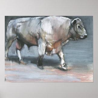 Fresno Galloway Bull Poster