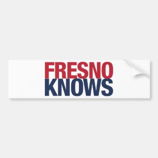 Fresno Knows Bumper Sticker