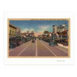 Fresno, opinión de CA - del norte en Broadway Tarjeta Postal