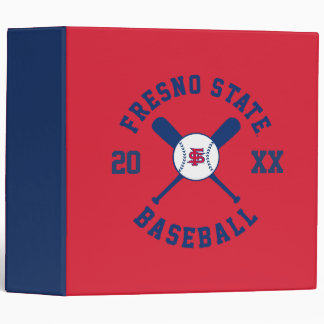 Fresno State Baseball 3 Ring Binder