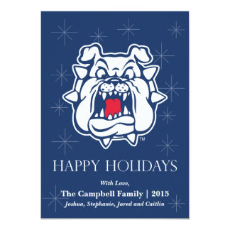 Fresno State Bulldog Head Card
