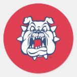 Fresno State Bulldog Head Classic Round Sticker