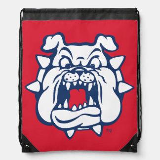 Fresno State Bulldog Head Drawstring Backpack
