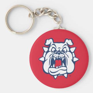 Fresno State Bulldog Head Keychain