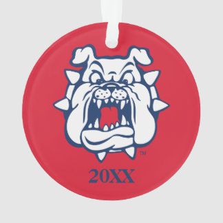 Fresno State Bulldog Head Ornament