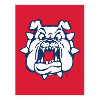 Fresno State Bulldog Head Postcard
