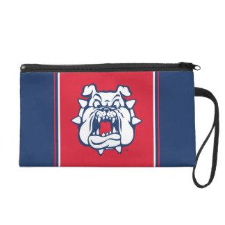 Fresno State Bulldog Head Wristlet