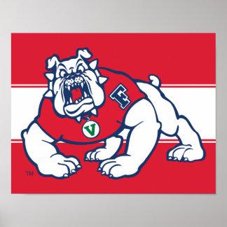 Fresno State Bulldog Poster