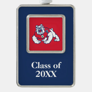 Fresno State Bulldog with Year Christmas Ornament