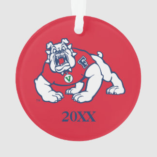 Fresno State Bulldog with Year Ornament
