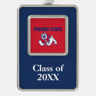 Fresno State Customize Your Sport Silver Plated Framed Ornament