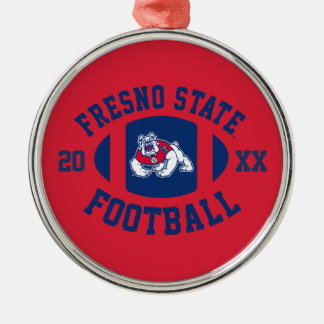 Fresno State Football Metal Ornament