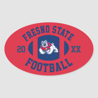 Fresno State Football Oval Stickers