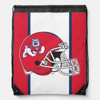 Fresno State Helmet Drawstring Backpack