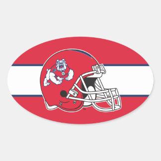 Fresno State Helmet Mark Oval Stickers