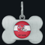 """Fresno State Helmet Pet Name Tag<br><div class=""""desc"""">Check out these official Fresno State products! Show off your Bulldog pride with these products that are customizable with your name, class year, and sport. Our CSU Fresno products are perfect for friends, family, students, alumni, and fans. Support your Fresno bulldogs with apparel, phone cases, housewares, and more on Zazzle.com!...</div>"""