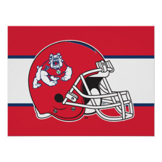 Fresno State Helmet Poster
