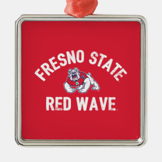 Fresno State | Red Wave - Classic Metal Ornament
