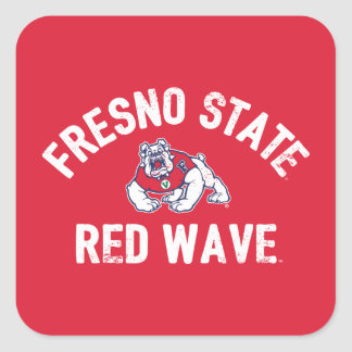 Fresno State   Red Wave - Classic Square Sticker