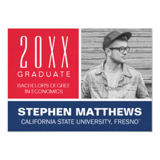 Fresno State University Graduation Announcement