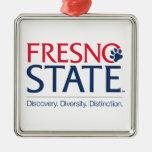 Fresno State University Slogan Metal Ornament