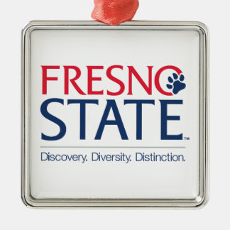 Fresno State University Slogan Metal Ornament