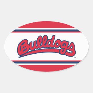 Fresno State Wordmark Oval Stickers
