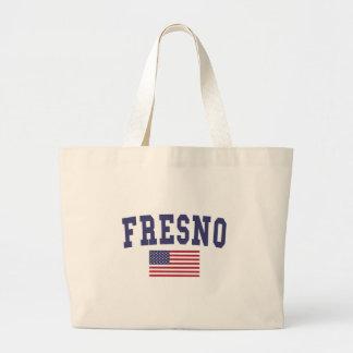 Fresno US Flag Large Tote Bag
