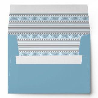 Fret Stripe Cornflower A7 Envelope envelope