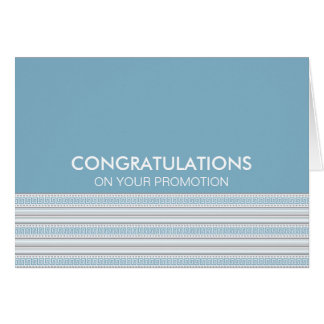Fret Stripe Cornflower Congratulations Promotion Greeting Card