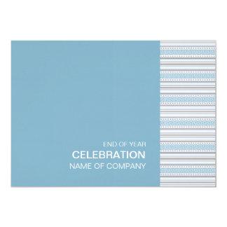 """Fret Stripe Cornflower Corporate Party Invitation 5"""" X 7"""" Invitation Card"""