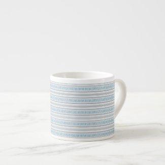 Fret Stripe Cornflower Espresso Mug specialtymug