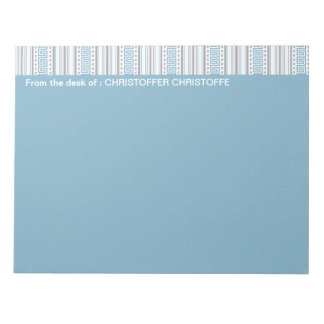 Fret Stripe Cornflower From the Desk of Notepad
