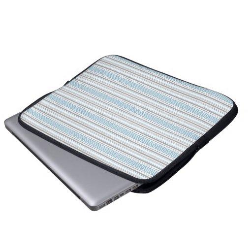 Fret Stripe Cornflower Laptop Case Computer Sleeves