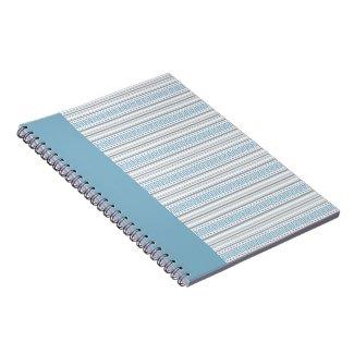 Fret Stripe Cornflower Notebook notebook